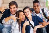 Csoport, a tizenévesek, hogy hűvös kéz jelek