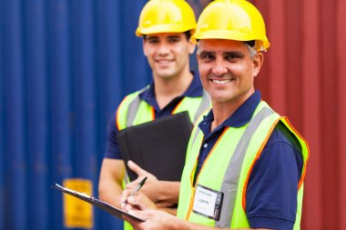 Shipping company workers