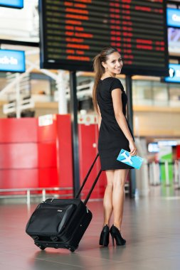 young woman going on a business trip