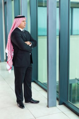 Arabian businessman inside an office building
