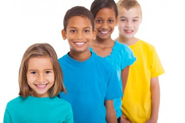 group of multiracial children