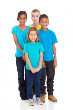 group of kids standing together