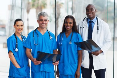 group of medical doctors in office