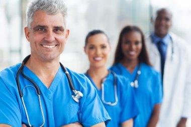 senior medical doctor and team