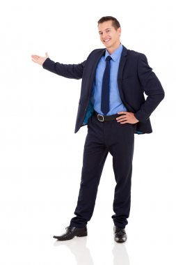 successful businessman presenting