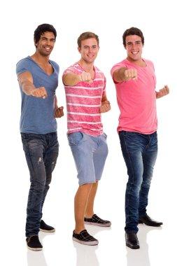 three friends posing