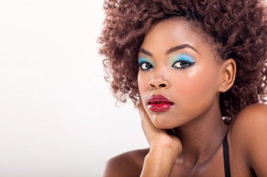 african american woman with makeup