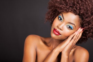 african female model with clear skin