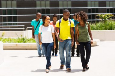 Students walking in campus