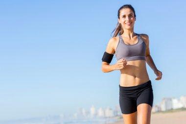 Woman jogging in morning