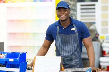 African store worker