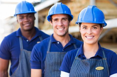 Building material warehouse workers
