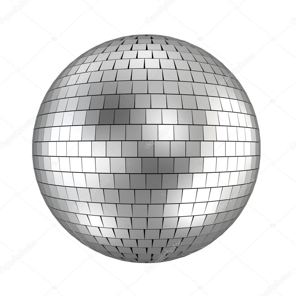 disco bal 3d render op wit stockfoto montego 15753507