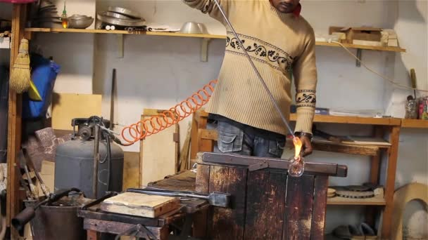 Glasherstellung in Murano, Italien