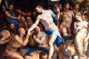Detail Of Descent Of Christ To Limbo By Bronzino