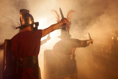 Roman Soldiers Attack