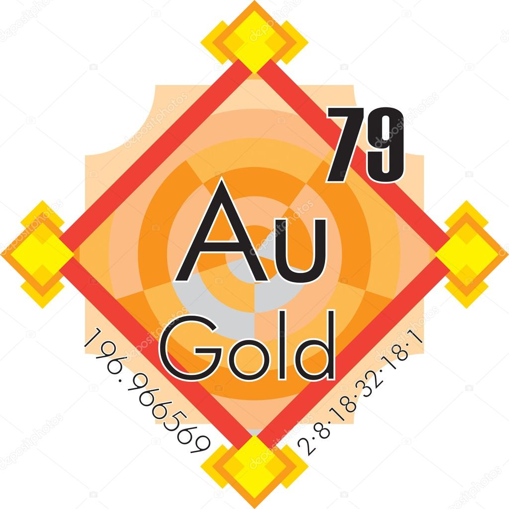 Gold form periodic table of elements v3 stock vector fambros gold form periodic table of elements v3 stock vector urtaz Image collections