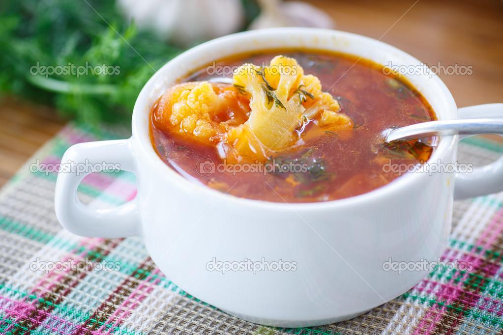 Суп со свеклой и капустой