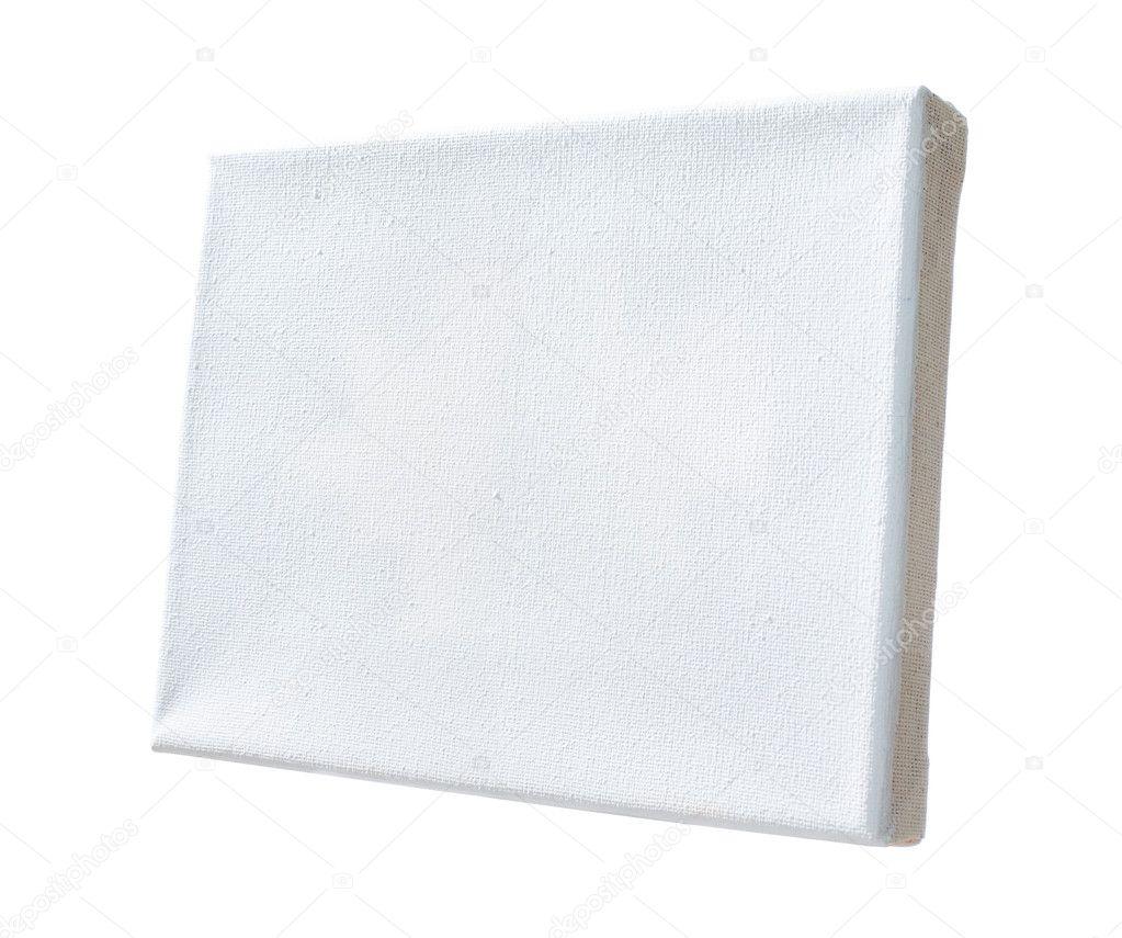 lienzo real cubierto por pintura blanca estiró en marco de madera ...