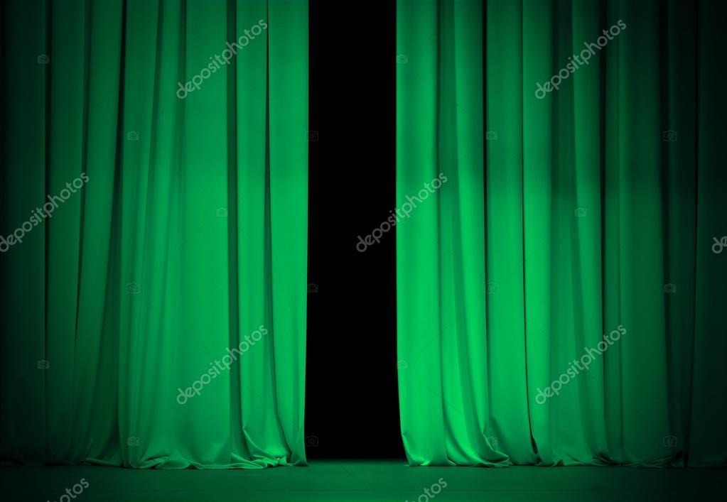 rideau vert ou meraude sur sc ne de th tre ou de cin ma un peu op photographie andrey. Black Bedroom Furniture Sets. Home Design Ideas