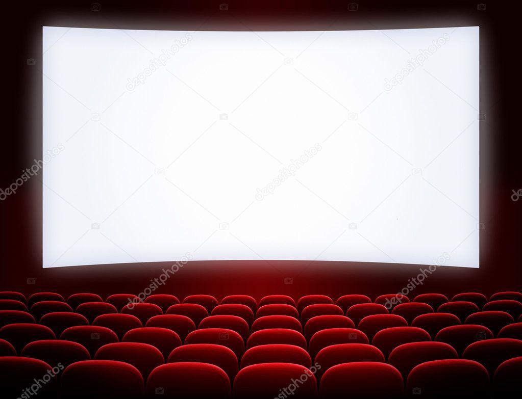 ecran de cinema avec le rideau ouvert 3d cinema grand ecran avec trame de rideau rouge et. Black Bedroom Furniture Sets. Home Design Ideas