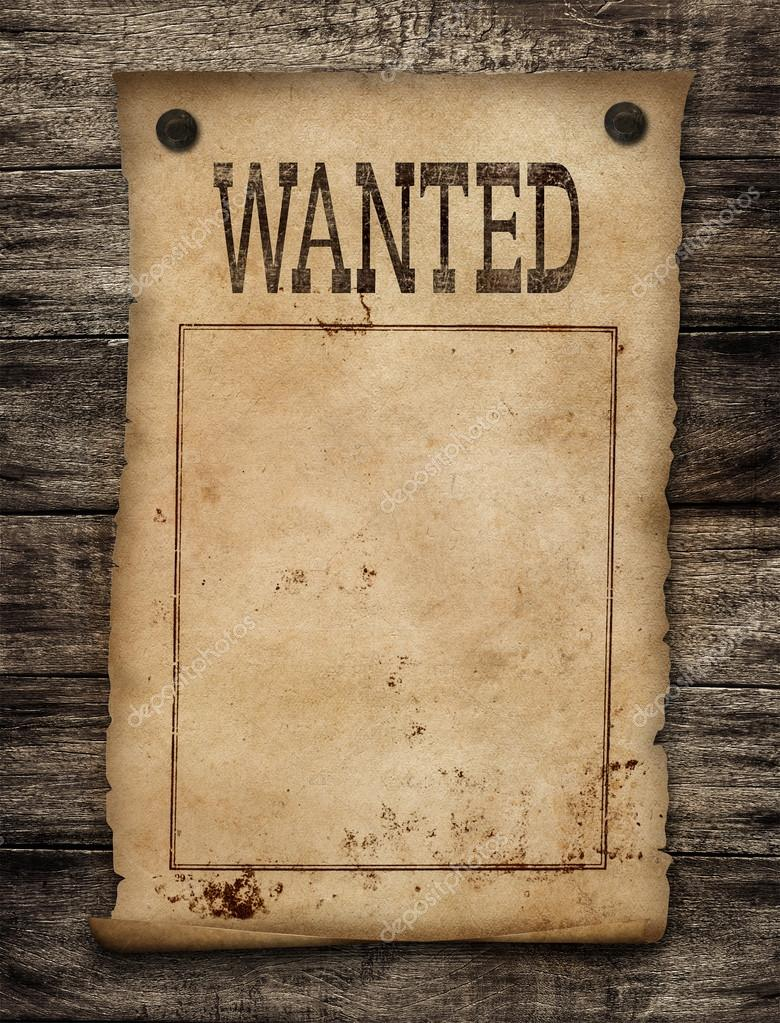 Wanted dead or live paper background. Wild west poster ...