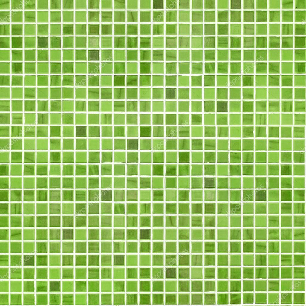 Parete di piastrelle bagno o cucina verde — Foto Stock ...