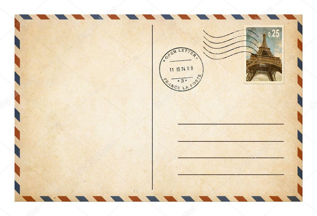 antigo cart o postal de estilo ou envelope com selo isolado stock photo andrey kuzmin 43754125. Black Bedroom Furniture Sets. Home Design Ideas