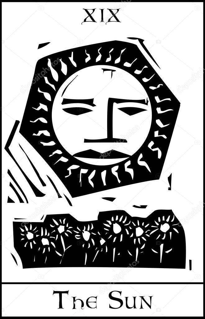 Slonce Kart Tarota Grafika Wektorowa C Xochicalco 19637955