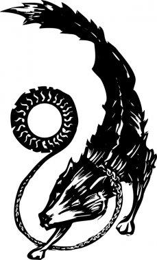 Mythological Fenris Wolf
