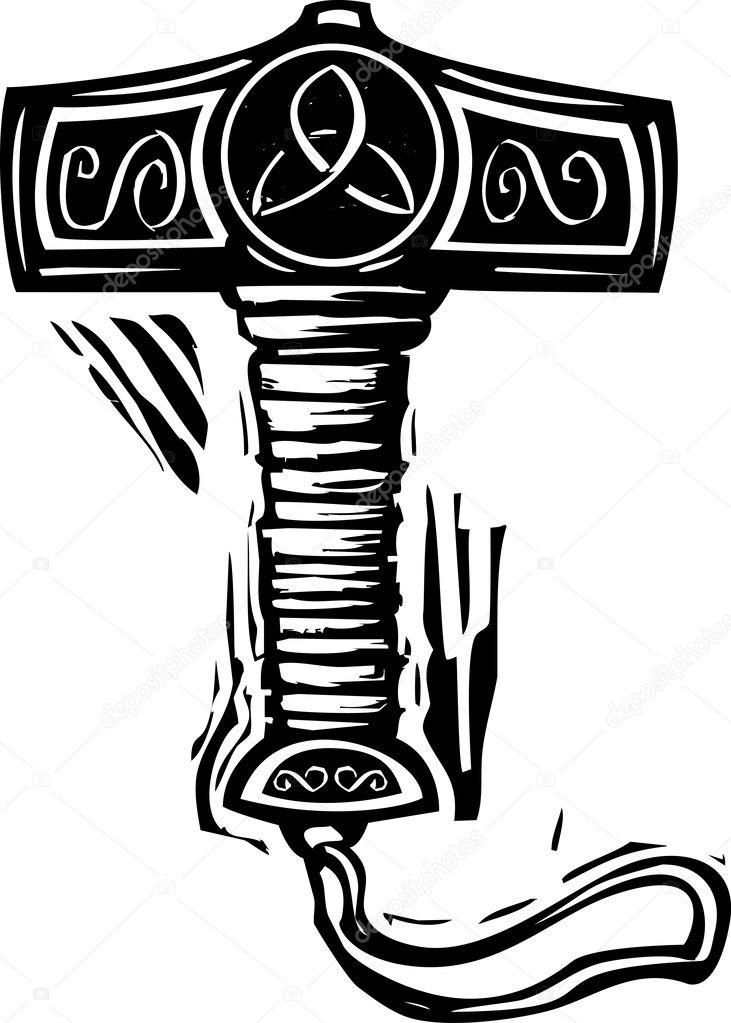 Vector Illustration Hammer: Stock Vector © Xochicalco #24283293