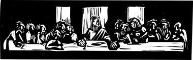 Last Supper Woodcut