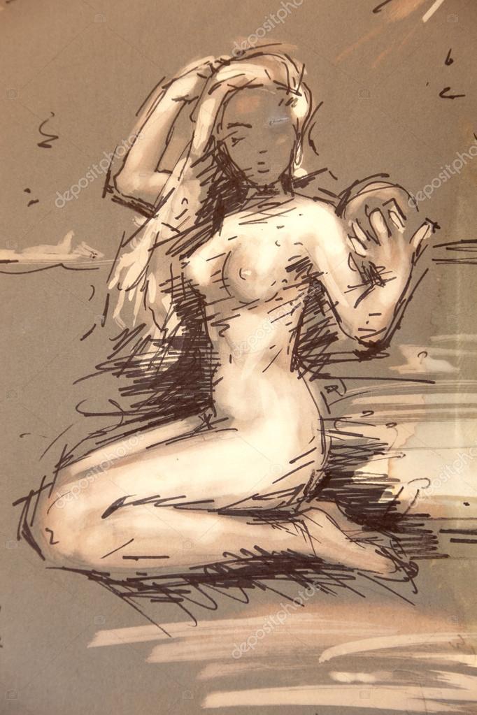 Νεαρά μαύρα θηλυκά γυμνό