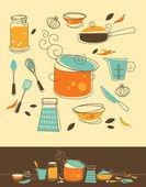 Fotografia set cucina
