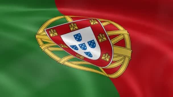 Portugál zászló a szélben