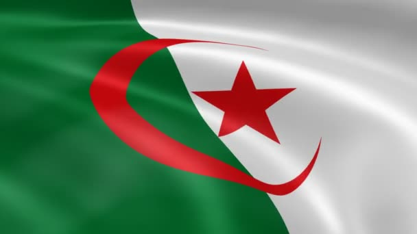 Algerian flag in the wind