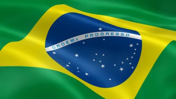 brazil zászló a szélben
