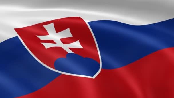 slovenská vlajka ve větru