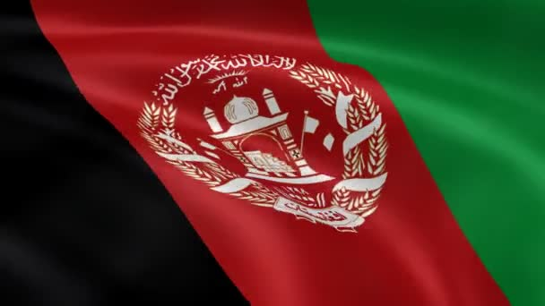 Afghan flag in the wind