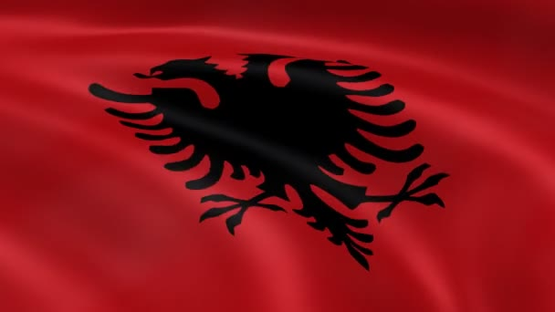 Albanian flag in the wind