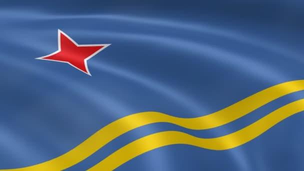 Aruban bandiera al vento