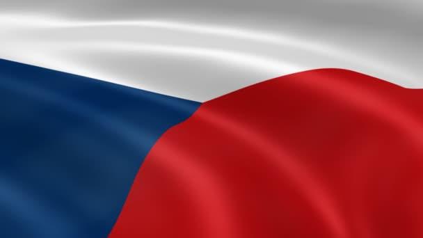 Česká vlajka ve větru