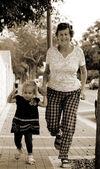 Fotografie šťastná babička s vnučkou