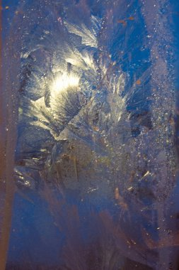 A frosted glass surface background
