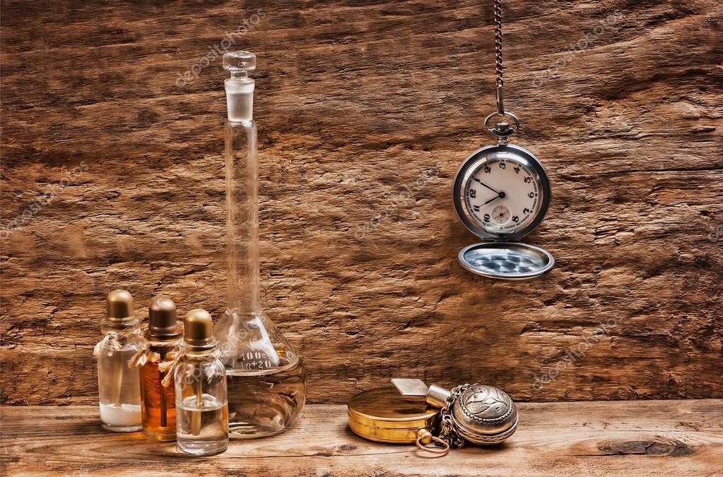 Vials with essential oils