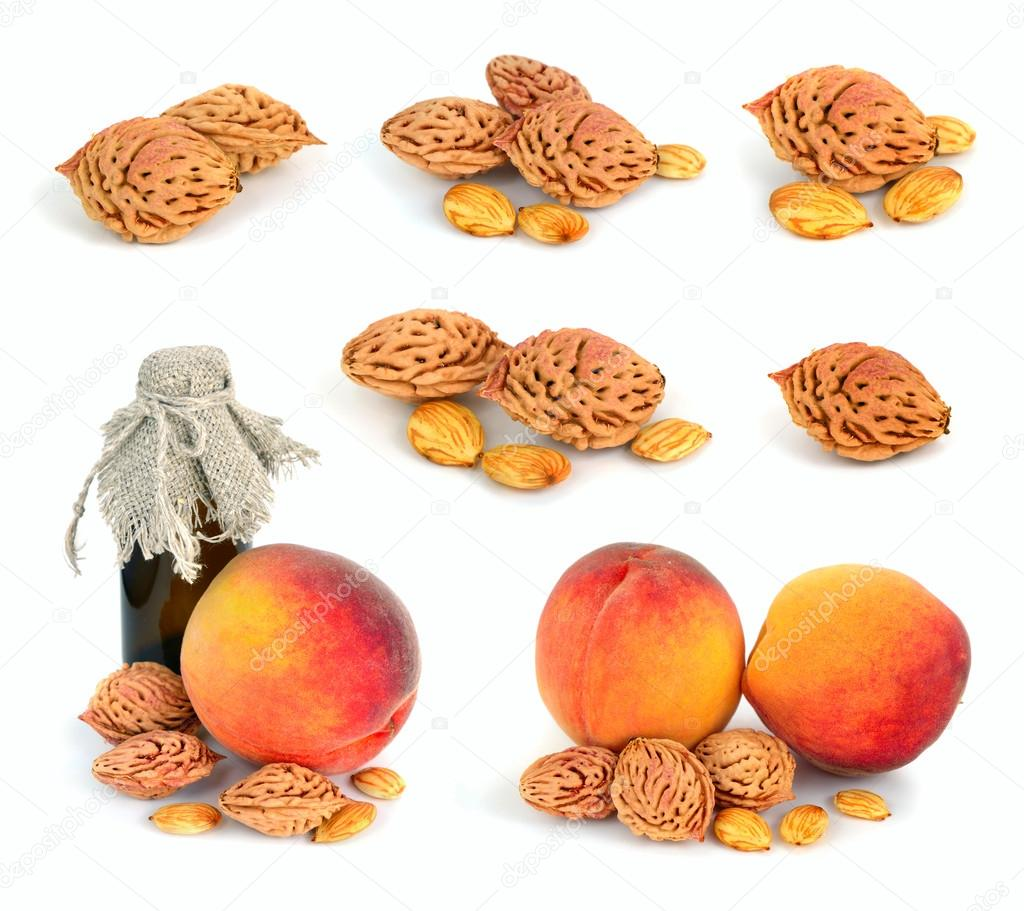 Peach stones.