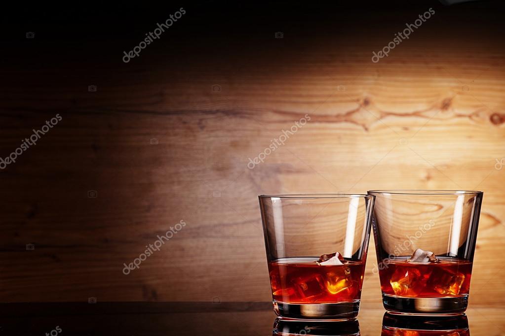 Tho glasses of whiskey