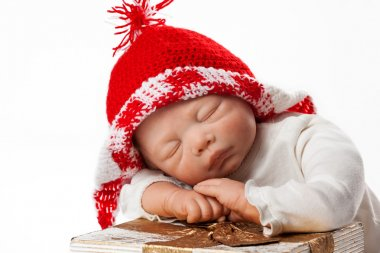 Baby Doll with Christmas Cap