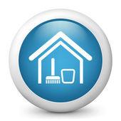 Fényképek Vektor kék fényes ikon ábrázoló, takarítás