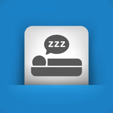 blue and gray icon depicting sleep